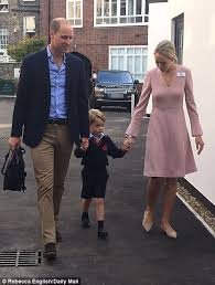 prince george arrives for his first day of daily mail online