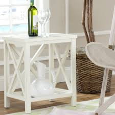 Overstock Sofa Table by Safavieh Otley White Cross Back End Table By Safavieh Rustic