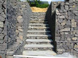 gabion stairs gabions can also be used as foundations under