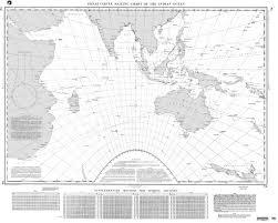 Indian Ocean Map Nga Chart 74 Great Circle Sailing Chart Of The Indian Ocean
