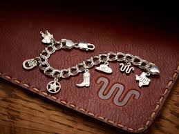 s charm bracelet 7 sterling silver charm bracelet king ranch saddleshop