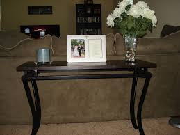 elegant decorating a console table behind sofa 97 in sofa table