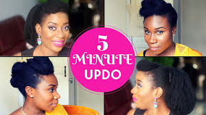 natural hair after five styles 5 minute updo challenge with layefa natural hair styles