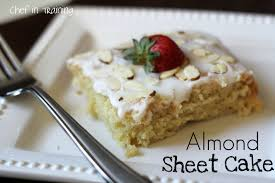 almond sheet cake chef in training