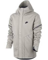 nike sportswear tech fleece windrunner jacket in gray for men lyst