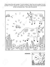 educational connect the dots picture puzzle and coloring page