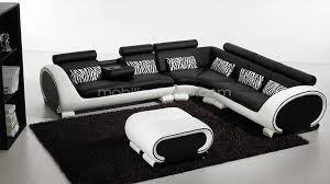 canapé design noir et blanc canapé noir blanc intérieur déco