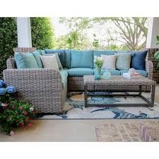 Turquoise Patio Furniture by Outdoor Sectionals Outdoor Lounge Furniture The Home Depot