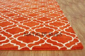 Orange Area Rug 5x8 Brand New Scroll Orange 5x8 8x5 Handmade Woolen Area Rug