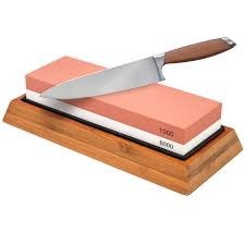 knife sharpening stone 1000 6000 grit professional grade double