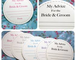 my advice for the and groom cards wedding advice cards etsy
