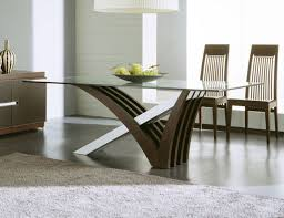 Modern Dining Room Tables Modern Glass Dining Room Tables For Well Modern Glass Dining Room