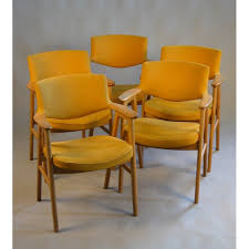 1960s Armchair Armchair In Oak And Yellow Fabric By E Kirkegaard For Høng