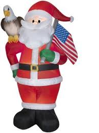 Outdoor Christmas Decorations Ace Hardware by Airblown Santa Claus Available At These Retailers Ace Hardware