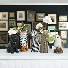 elephant vase ceramic stylish faux flowers plants pots u0026 vases finishing touches