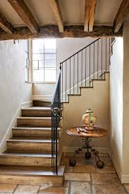 indoor stair railing staircase rustic with industrial chandeliers
