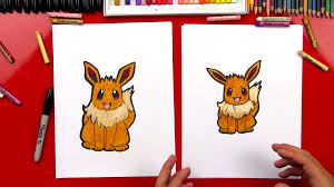 how to draw eevee pokemon art for kids hub