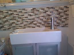 Bathroom Sink Backsplash Ideas Mesmerizingg Bathroom Sink Backsplash Ideas In Subway Pattern In Neutral Tones Jpg