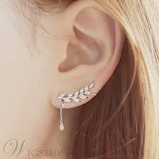 korean earings new korean style leaf with pendant irregular earrings for