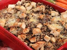 cheesy turkey and rice casserole with shiitake mushrooms