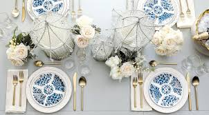 Blue Table L A Blue White Table Setting For Any Occasion How To Decorate