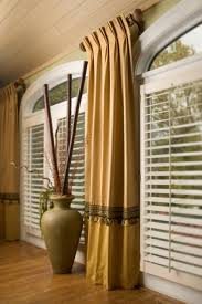 Drapes For Windows by Home Design Palladian Window With Decorative Curtains In Brown