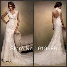 wedding dress lace back and sleeves free shipping cap sleeve appliqued beading open back sheath