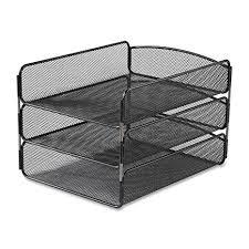 safco onyx mesh desk organizer amazon com safco products 3271bl onyx mesh desktop organizer with