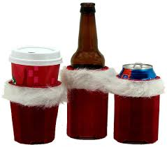 huggie drinks beverage insulator velvet christmas pocket huggie is