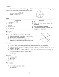 Segment Lengths In Circles Worksheet Answers Module 1 Circles
