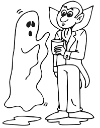 free printable ghost coloring pages kids