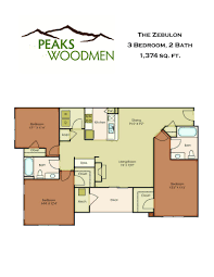 3 bedroom 2 bath floor plans colorado springs apartments floor plans peaks at woodmen