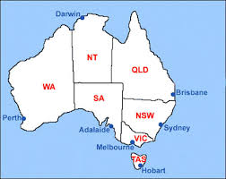 map of australia with cities and states map of australia