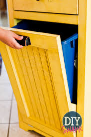 tips trash can cabinet pull out wooden trash can cabinet tilt