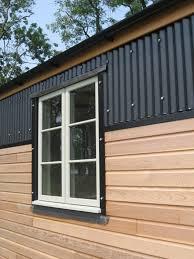black corrugated metal facade google search corrugated