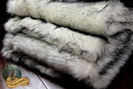 Fake Fur Blanket Amazon Com Fur Accents Russian Wolf Throw Blanket Black Tip Faux