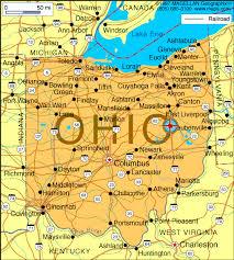 america map ohio ohio map