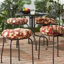 15 Bistro Chair Cushions 15 Inch Round Outdoor Esprit Bistro Chair Cushion Set Of 4