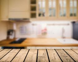 fonds de cuisine plan de travail en bois avec le fond de cuisine photo stock image
