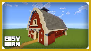 minecraft how to build a barn house tutorial easy survival