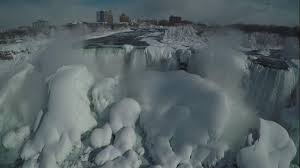 niagara falls completely frozen weather channel