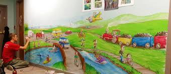transportation daycare mural free sky studios professional mural transportation mural painting