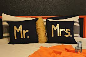 mr and mrs pillow custom mr mrs pillows the front poarch