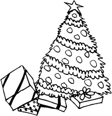 coloring page of christmas tree with presents pile of presents under christmas trees coloring pages color luna