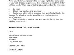 24 cover letter for shadowing a doctor sample thank you note