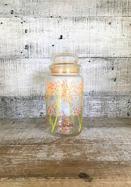 canister glass canisters kitchen canister vintage storage graft