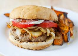 thanksgiving turkey burger recipe turkey burger with caramelized onions gruyere and sage mayo the