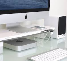 Computer Desk Microphone Satechi F3 Smart Monitor Stand Monitor Tech And Monitor Stand