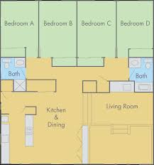 Plan 4 by Arlington Farm Floor Plan 4 Bedroom 2 Bathroom Flat