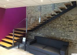 Garde Corps Loft Escalier Quart Tournant Bas En Bois Duplex Escaliers Pinterest